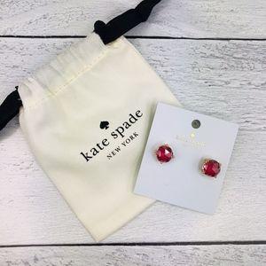 Kate Spade Red Pink Gumdrop Enamel Stud Earrings